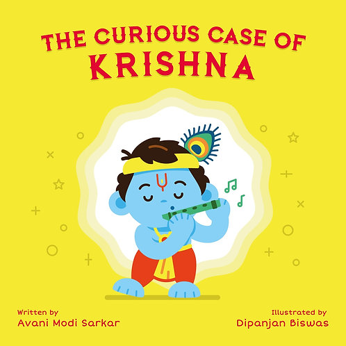 The Curious Case of Krishna children's illustrated board book from Modi Toys