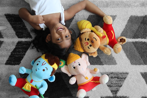 Medium sized Baby Krishna Baby Ganesh Baby Hanuman from Modi Toys