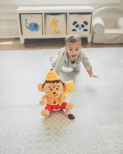 Mantra-singing Baby Hanuman plush toy from Modi Toys