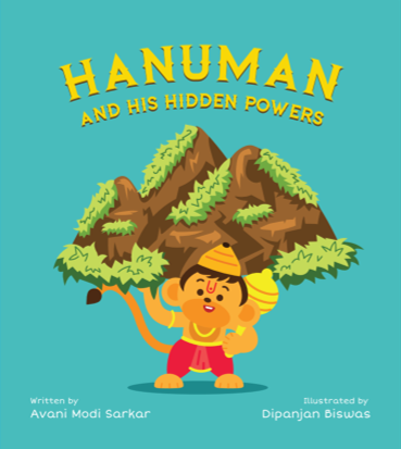 Hanuman and His Hidden Powers children's illustrated board book from Modi Toys