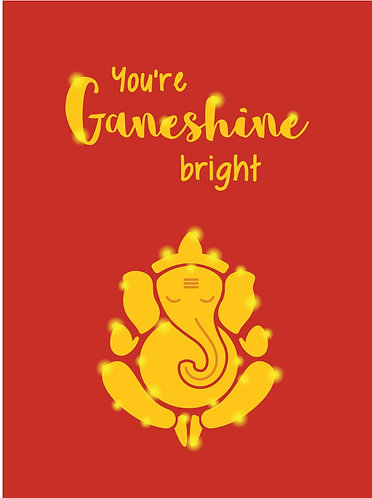 Ganesh good luck greeting card from Modi Toys