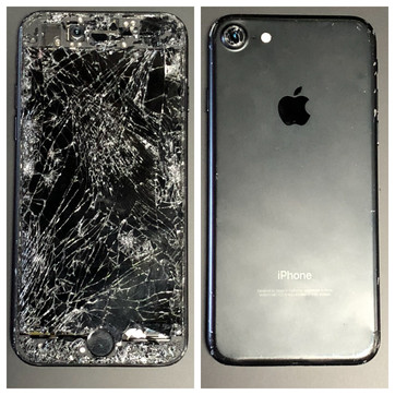 Apple iPhone 7 Ran over by several vehicles.
