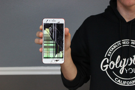 Cracked iPhone Front Glass Screen & LCD Display