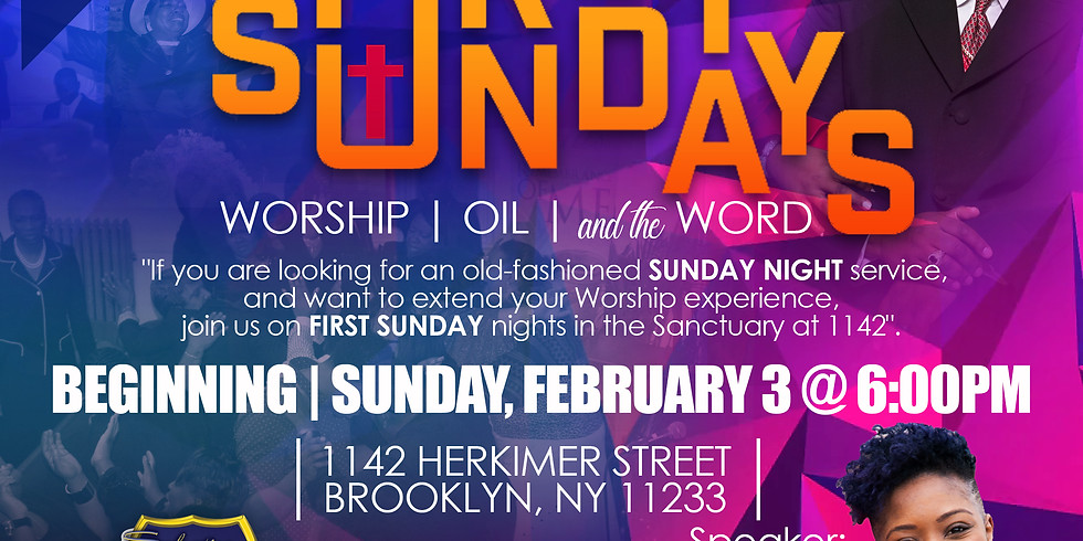 1ST SUNDAY - Worship | Oil | and the Word