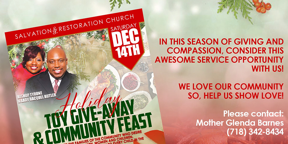HOLIDAY TOY GIVE-AWAY | VOLUNTEERS NEEDED