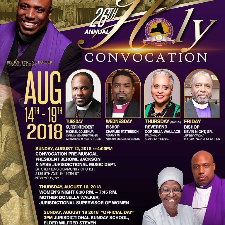 HOLY CONVOCATION 2018