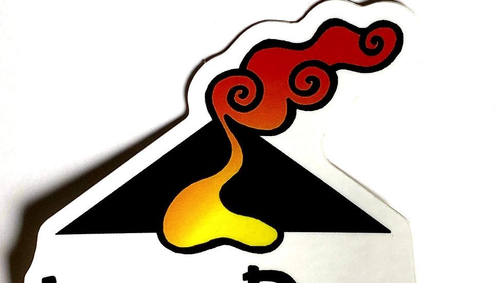 Lava Paws Sticker