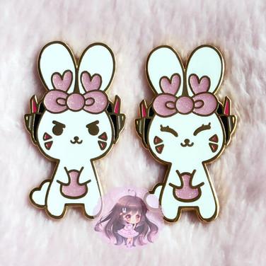 D.Va Bunny Inspired Enamel Pins