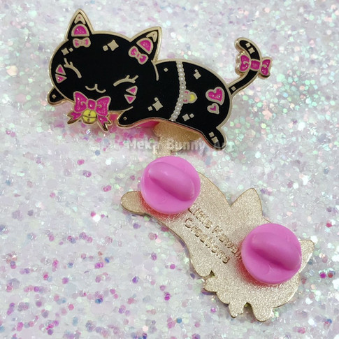 Back Cat D.Va Inspired Enamel Pin
