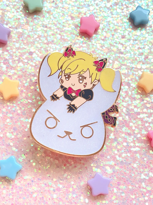 Black Cat D.Va Chibi Hard Enamel Pin
