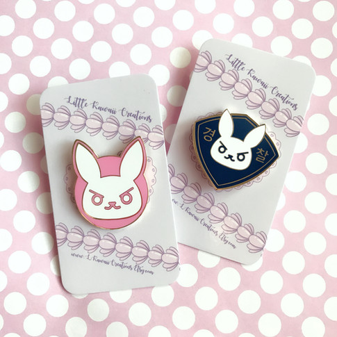 D.Va Themed Enamel Pins
