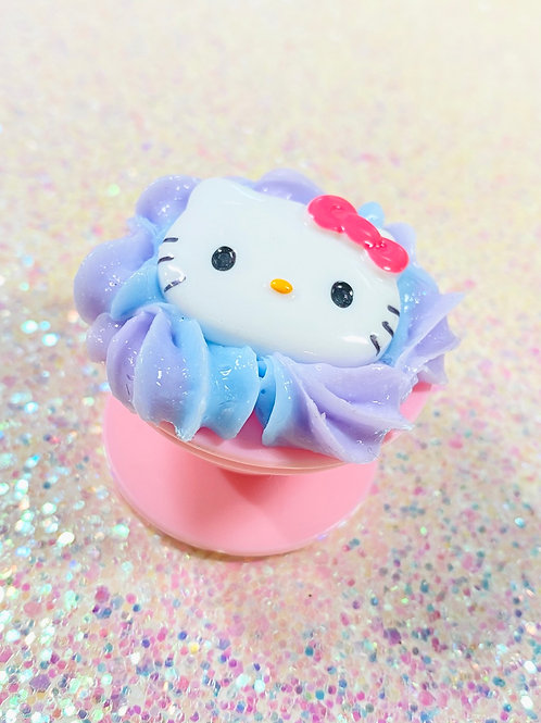 Blue and Purple Hello Kitty Phone Grippy