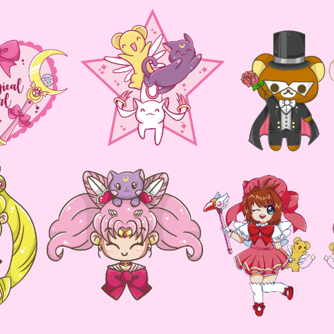 Magical Girl Themed Kickstarter Designs