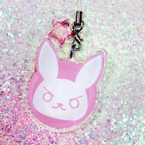 D.VA Pastel Bunny Acrylic Charm