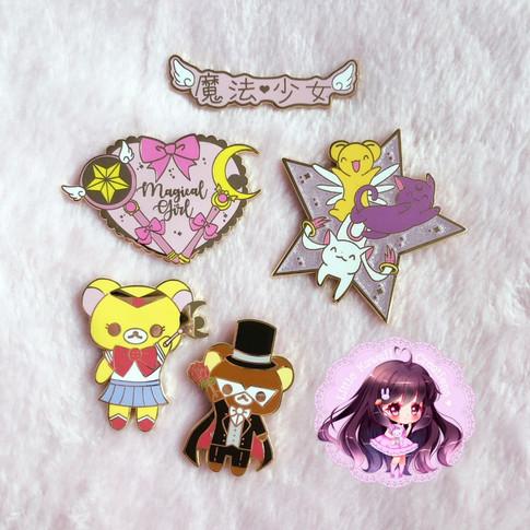 Magical Girl Enamel Pins