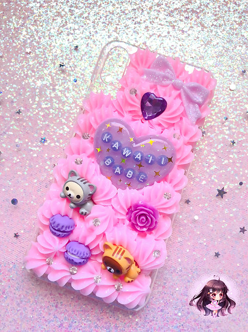 B GRADE iPhone XS Max Kawaii Babe Decoden Case