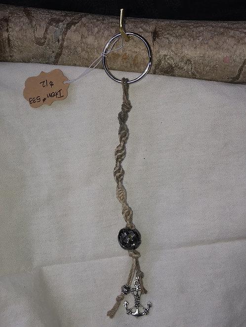 Hemp Anchor Keychain