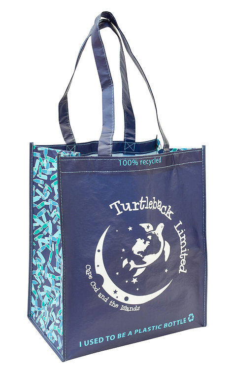 Recycled Reusable Shopper: Caribbean Blue