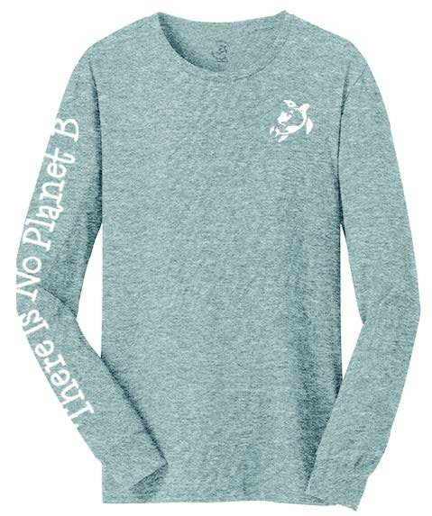 Adult Long-Sleeved Gray : There Is No Planet B