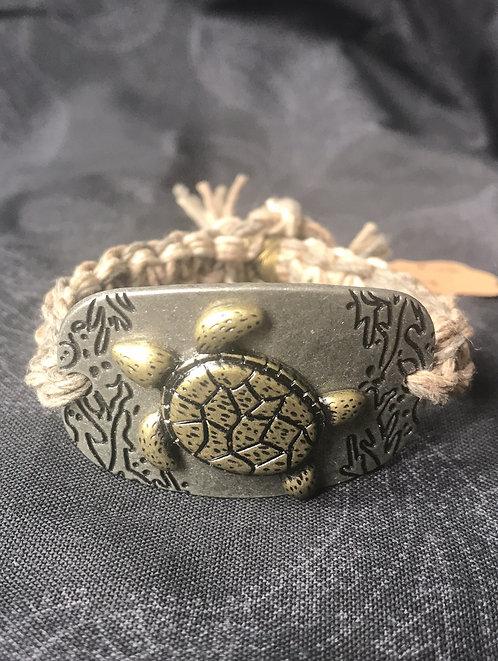 Turtle  Hemp Bracelet