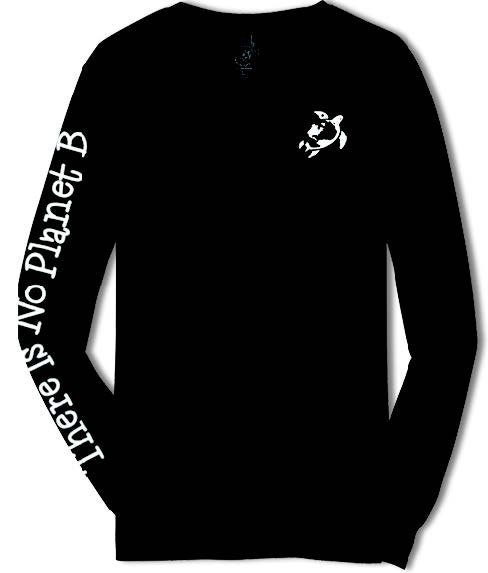 Adult Long-Sleeved Black: There Is No Planet B