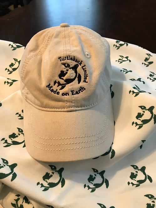 "Turtleback Limited Hat: Beige ""Made on Earth"""