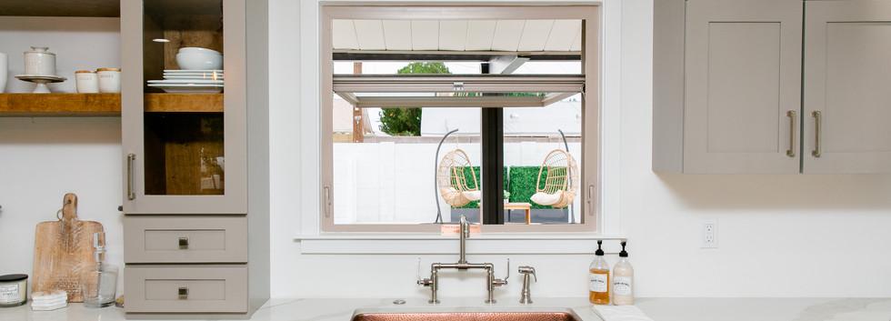 Copper Sink & Pass-through Window