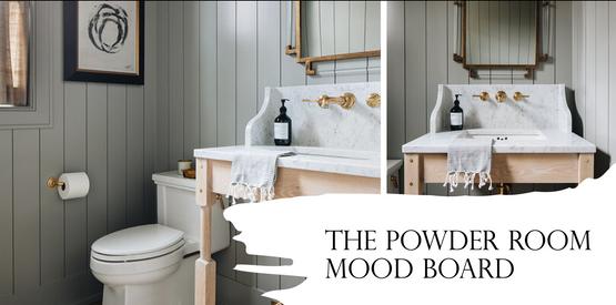 Powder Room Mood Board