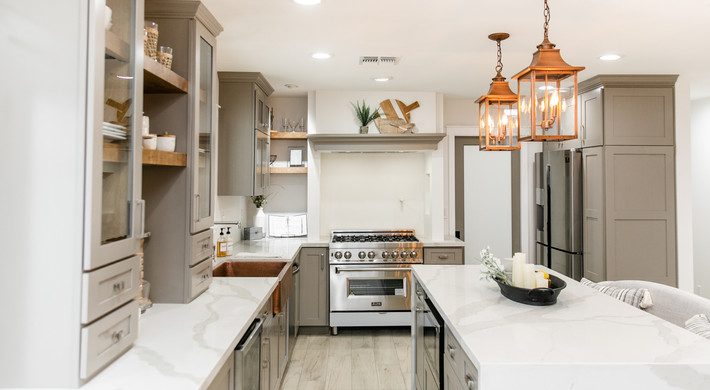 Kitchen with Counter to Ceiling Range