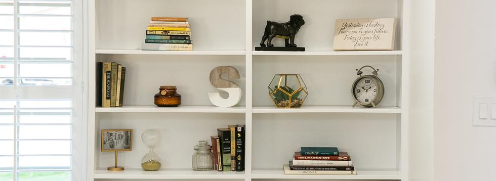 Floor to Ceiling Built-in Book Shelf