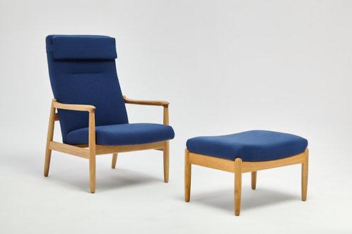 FINCH H64 mit Hocker (Blau)