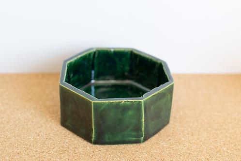 Porte savon vert en céramique