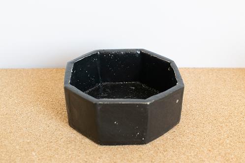 Porte savon noir en céramique