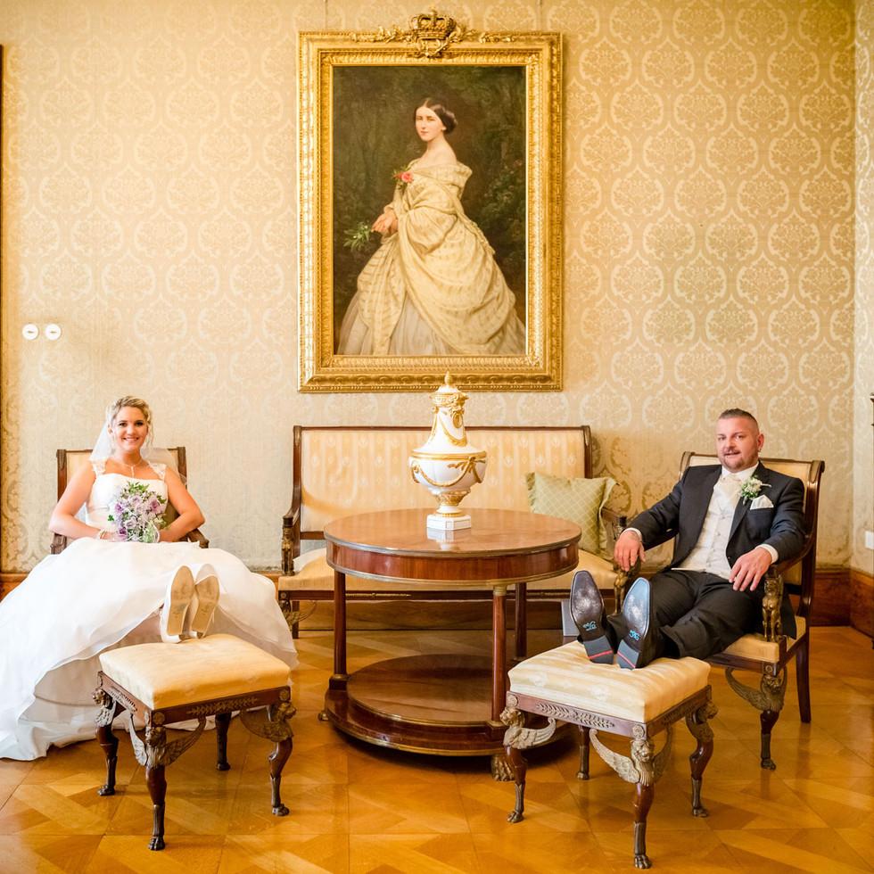 Brautpaar im Schloss