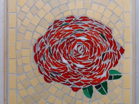 Rose ist fertig eingefügt, hier von vorne