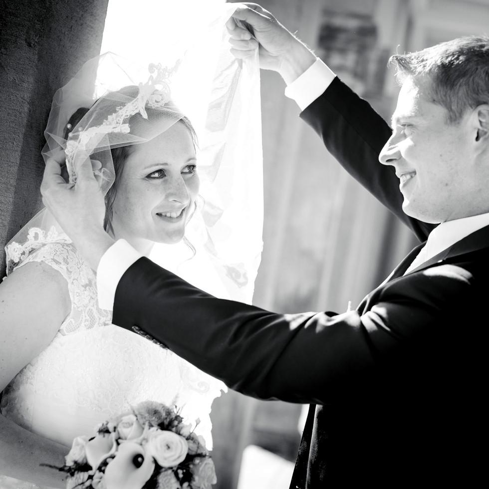 Enthüllung Hochzeitspaar