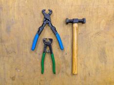 Werkzeug für Fliesen und hartes Material