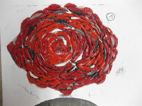 Rose von hinten (indirekt)