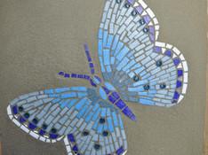 Der prachtvolle Schmetterling von Monika G. ist fertig!