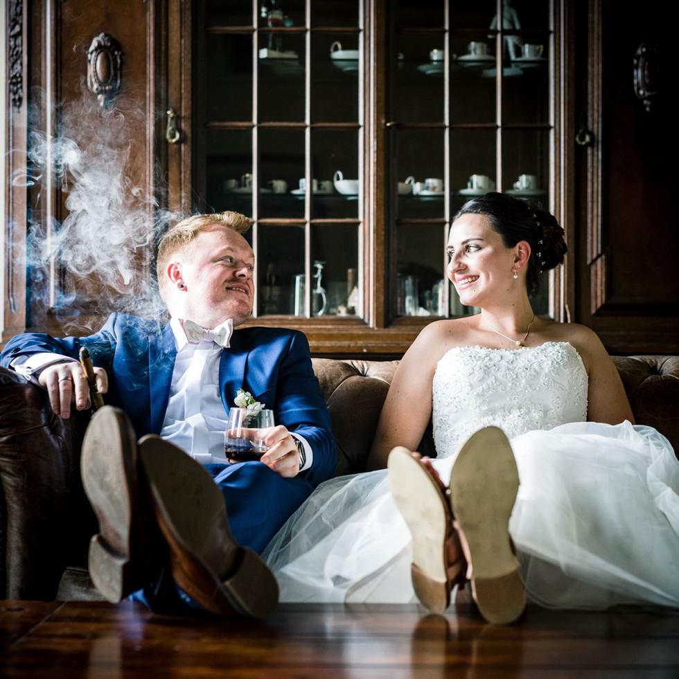 Brautpaar im Herrenzimmer