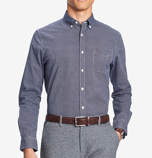 Camisa Tommy Hilfiger Geo-Print Twill