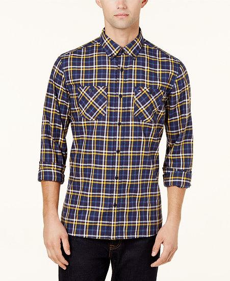 Camisa Tommy Hilfiger Plaid Blue