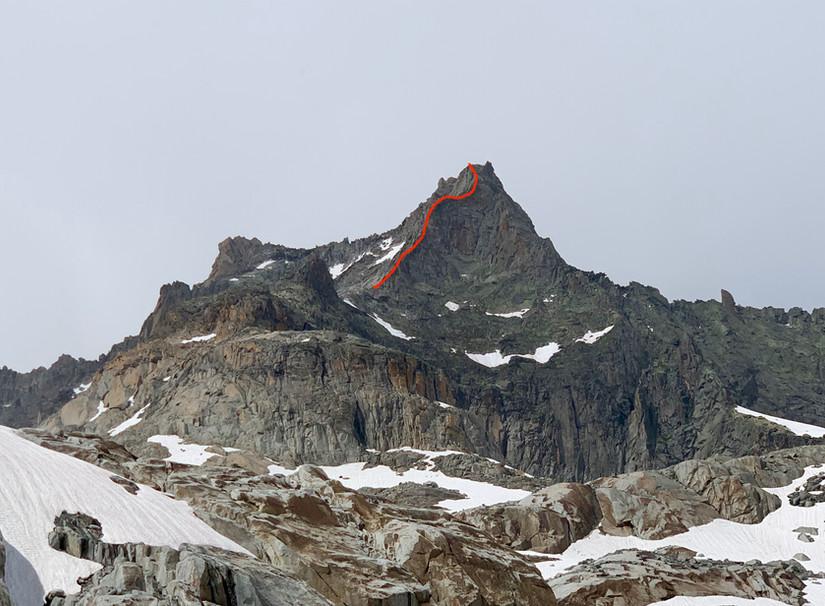Gletschhorn Südgrat Routenverlauf
