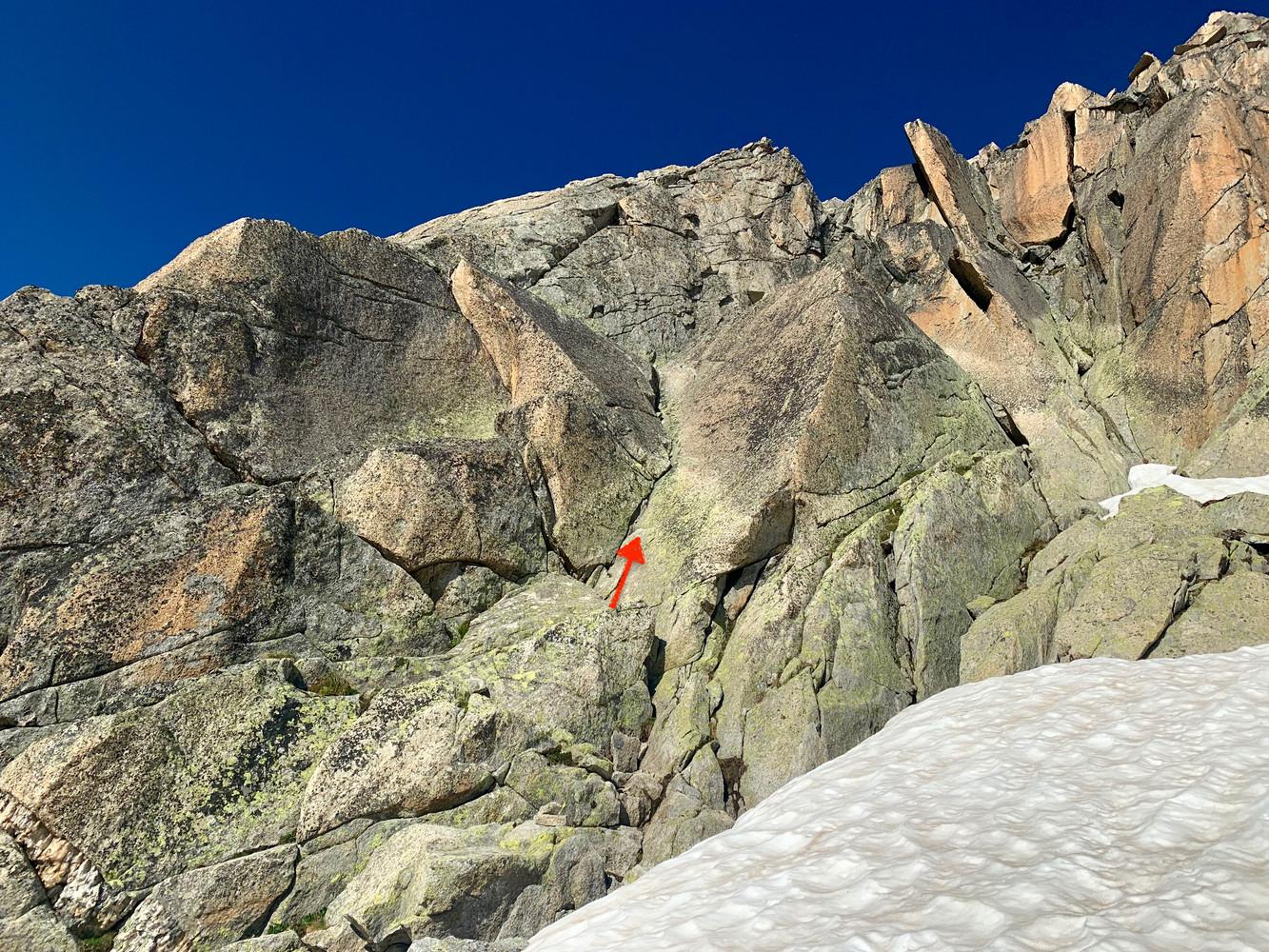 Gross Furkahorn Südostgrat, Topo, Einstieg