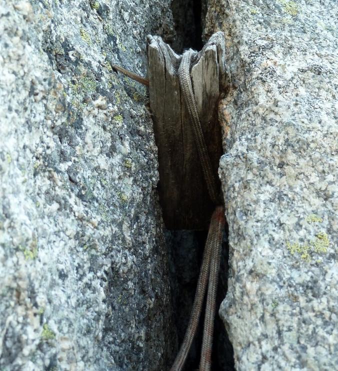 Salbit Westgrat Klettern Holzkeil