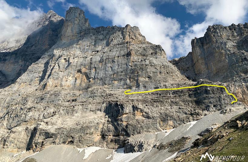 Eigernordwand Westausläufer Klettern Zustieg Golden Shower
