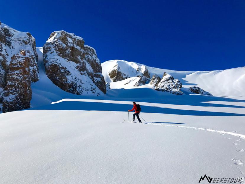 Skitour mit den Bergführern von mybergtour unverspurt