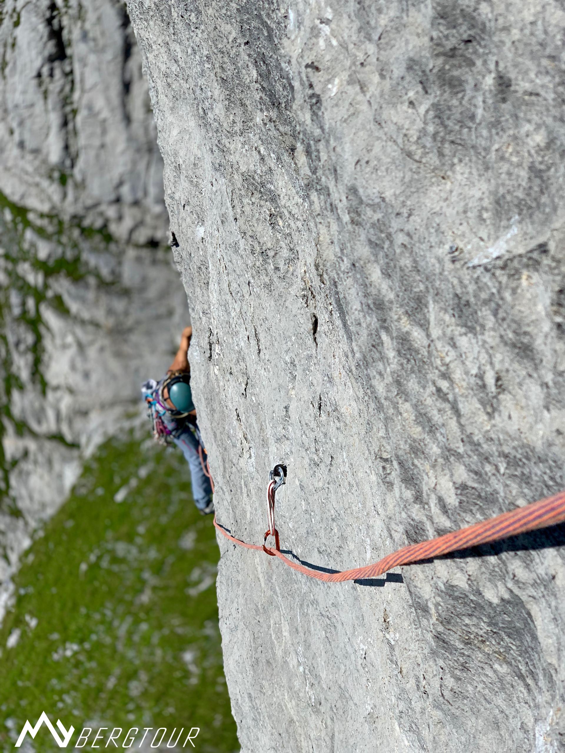 Klettern Wendenstöcke Excalibur Schlüsselseillänge Crux