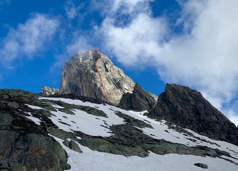 Bergseeschijen Südgrat, Klettern, Bergführer, Routenverlauf, Einstieg