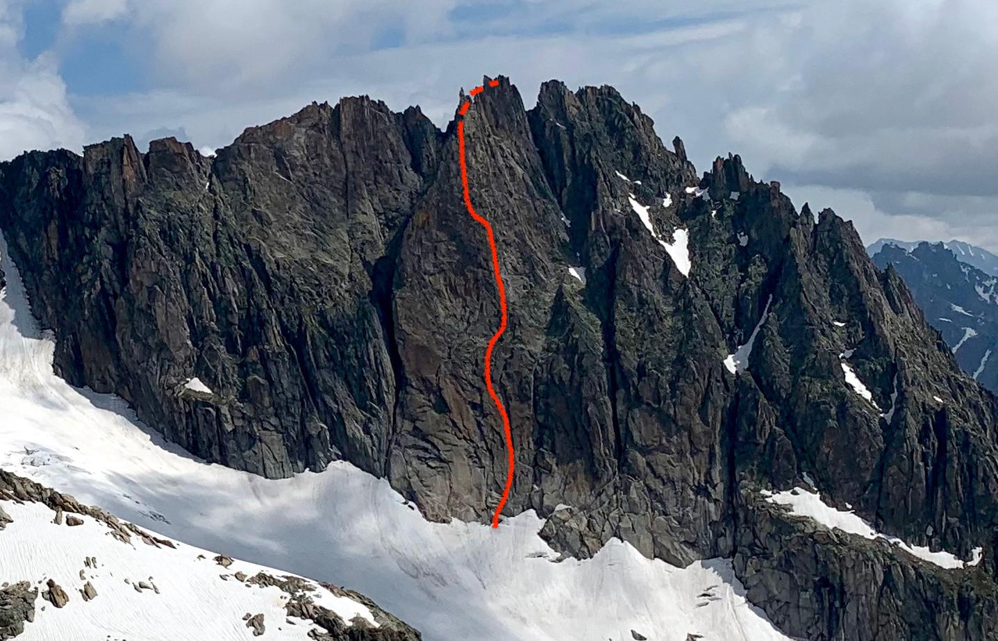 Gross Bielenhorn, Niedermann-Anderrüthi, Topo, Routenverlauf, Bergführer
